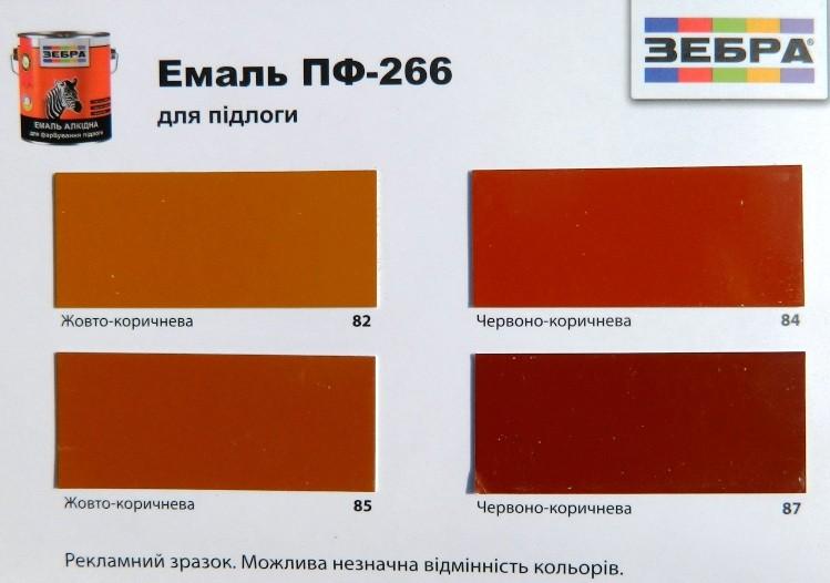 Эмаль пф-266 для пола (жёлто-коричневая, красно-коричневая, коричневая нужна ли гидроизоляция холодной кровли