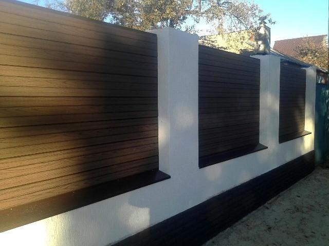 Забор с использованием Фасадной доски из ДПК