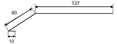 Карнизная планка для битумной черепицы - Чертеж