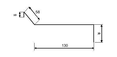 Планка примыкания для битумной черепицы - Чертеж