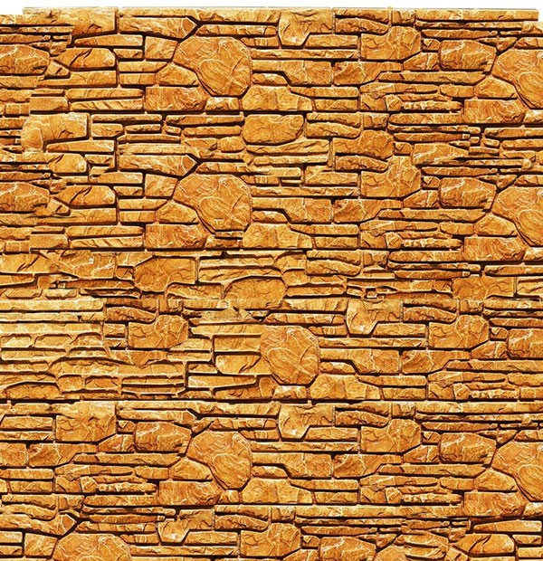 Декоративная плитка из гипса Коллекция «Бастион коричневый»