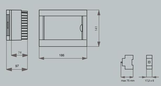 Коробок ViKO под автомат 6 модуля