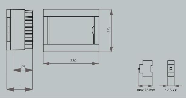 Коробок ViKO под автомат 8 модуля