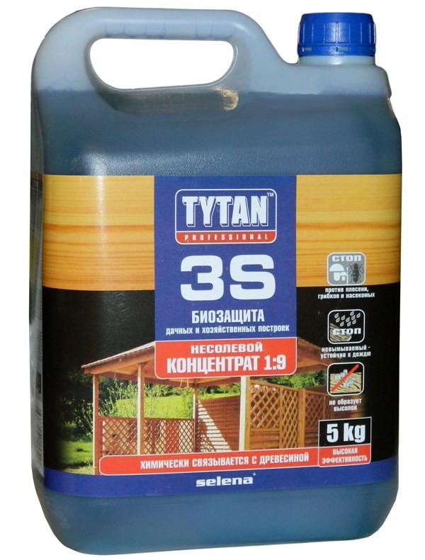 Универсальный антисептик для дачной и садовой древесины — Tytan 3S